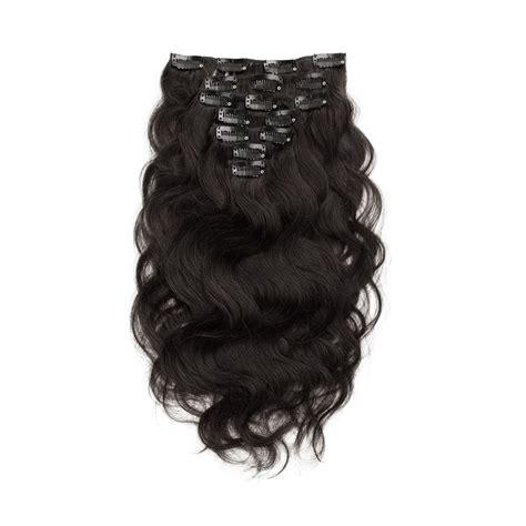 Mapepe Hair Clip Black 2 Pcs 7pcs wavy clip in remy hair extensions 1b black
