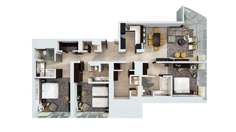 3 room apartement in the green apartments for rent in hotel apartments dubai sheraton grand hotel dubai