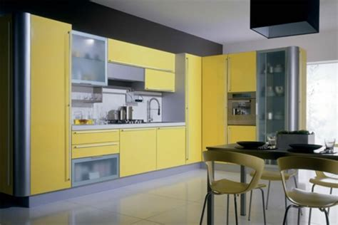 meuble cuisine jaune meuble cuisine la solution pour le rangement pratique