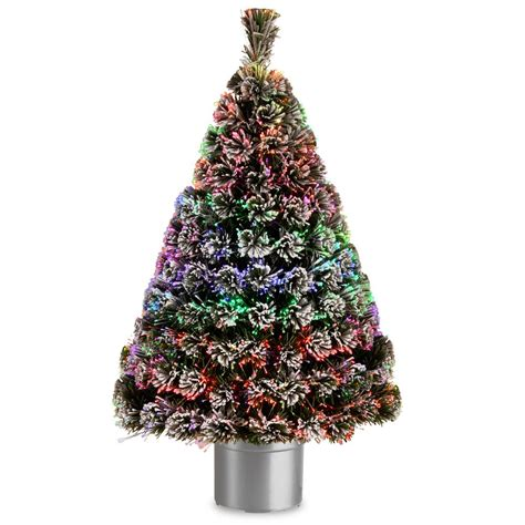 4 ft white fiber optic christmas tree national tree company 4 ft fiber optic fireworks artificial tree with ornaments