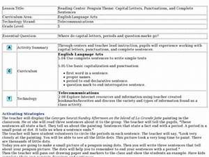 reading center penguin theme capital letters With capital letters lesson plans first grade