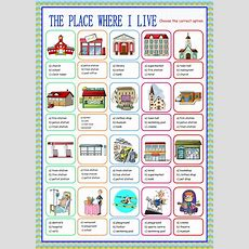 The Place Where I Live (multiple Choice)  Interactive Worksheet