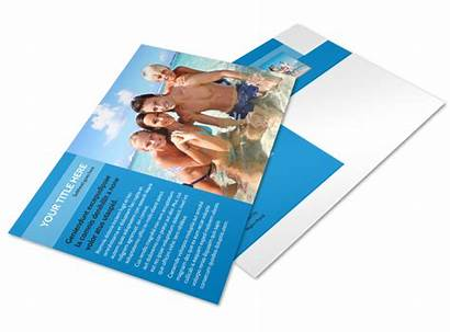 Postcard Beach Resort Template Templates Flyer Mycreativeshop