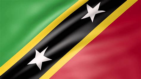 Saint Kitts and Nevis Animated Flag - YouTube