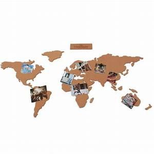 Carte Du Monde En Liège : carte du monde en li ge cadeau maestro accessoires de voyage ~ Teatrodelosmanantiales.com Idées de Décoration