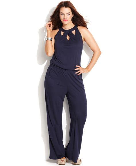 plus size jumpsuits inc international concepts plus size cutout jumpsuit in