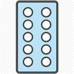 Strip Tablet Blister Pack Medicine Icon Pills