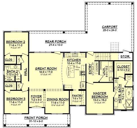 home building plans 3 bedrm 1900 sq ft acadian house plan 142 1163