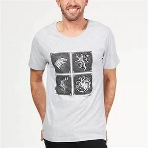 Kiabi T Shirt Homme : tee shirt 39 game of thrones 39 homme gris chin kiabi 13 00 ~ Nature-et-papiers.com Idées de Décoration
