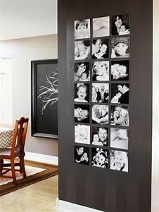 Fotos An Wand Kleben : 55 ausgefallene bilderwand und fotowand ideen ~ Lizthompson.info Haus und Dekorationen