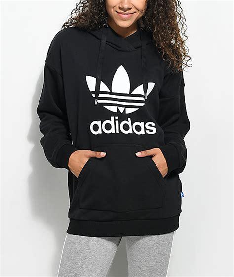 Adidas Black Trefoil Hoodie | Zumiez