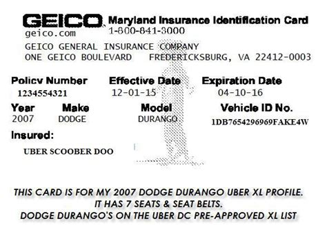geico insurance card template geico insurance card exle things that make you