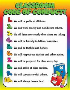 Dominie Classroom Code of Conduct! Chart
