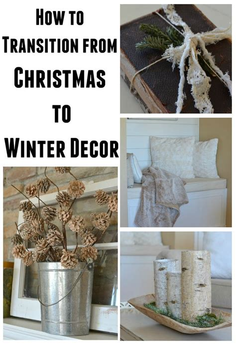 how to transition from to winter decor easy