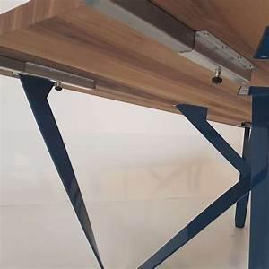 Table Bois Metal Extensible : table design extensible en m tal et bois wave 4 pieds tables chaises et tabourets ~ Teatrodelosmanantiales.com Idées de Décoration