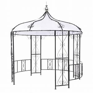 Pavillon Metall Rund : tepro metall pavillon rowa gartenpavillon metallpavillon rund durchmesser 3 m ebay ~ Eleganceandgraceweddings.com Haus und Dekorationen