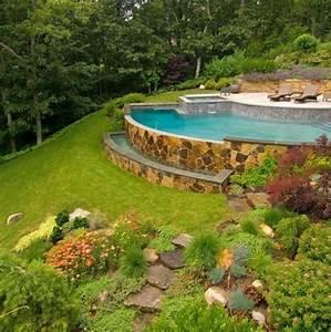 Terrasse Am Hang : pool steinmauer garten hang garten garden in 2019 hang ~ A.2002-acura-tl-radio.info Haus und Dekorationen