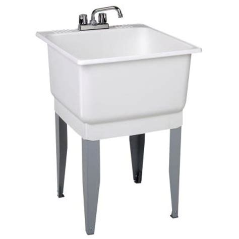 Mustee Utility Sink Home Depot by Mustee Utilatub Combo All In One 25 In X 23 In