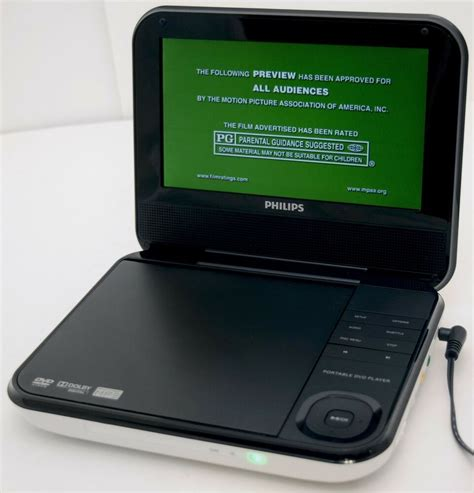 portable player philips pd703 37 7 quot white portable dvd player wireless