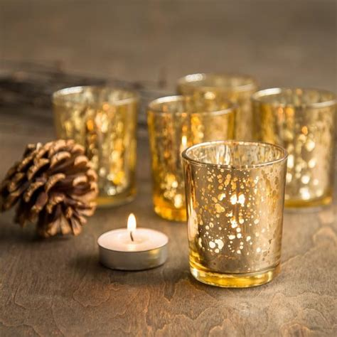 Gold Glass Candle Holders by Set Of 72 Gold Mercury Glass Candle Votive Mercury Glass