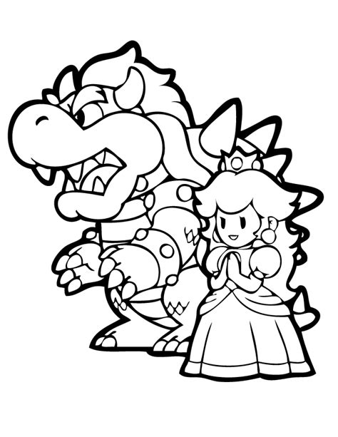 bowser  princess coloring page   coloring pages