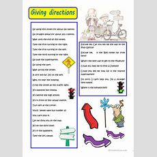 Giving Directions Worksheet  Free Esl Printable Worksheets Made By Teachers