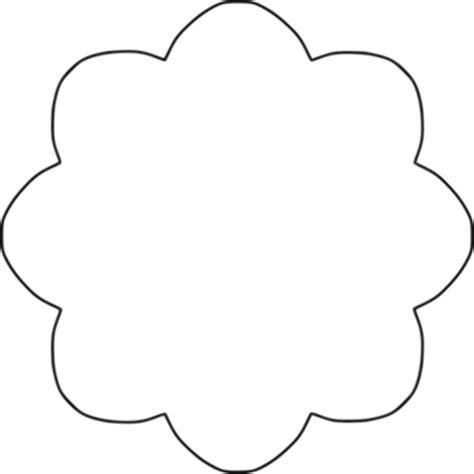 Flower 8 scallop circle background by BAJ Flower 8