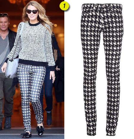 Sasha Finds Blakeu2019s houndstooth pants and outfit|Lainey Gossip Lifestyle