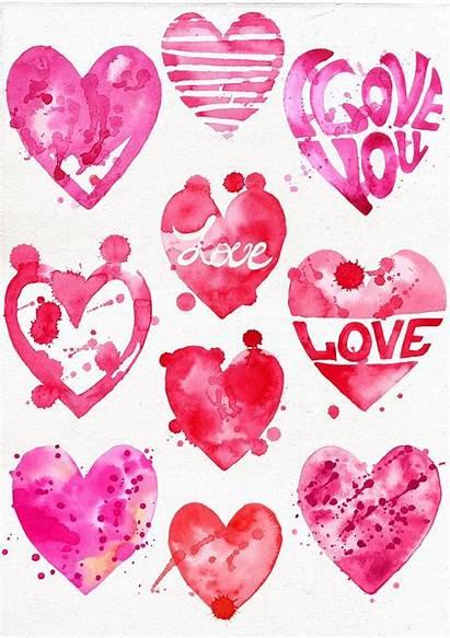 Heart Clipart Valentines Valentine Watercolor Clip Hearts