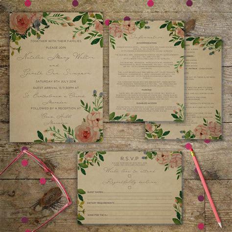 vintage garden wedding invitations by gray starling