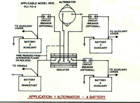 boat battery isolator wiring diagram battery separator