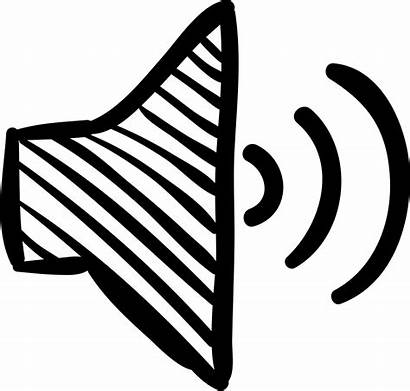 Icon Speaker Sketch Loud Volume Tool Symbol
