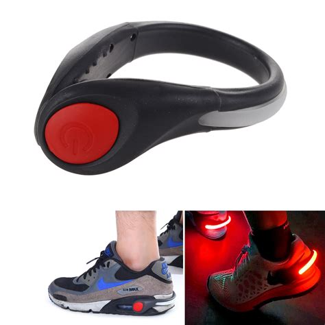 motorcycle shoes with lights fitness led light cycling running trainer shoe clip wrist