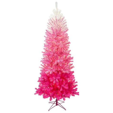 7 ft pre lit quinn pink ombre christmas tree with 350