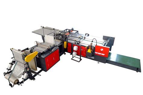 china pp plastic woven bag automatic cutting  sewing machine china  membrane bag machine