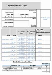 sample report card template 11 download documents in With high school report card template word