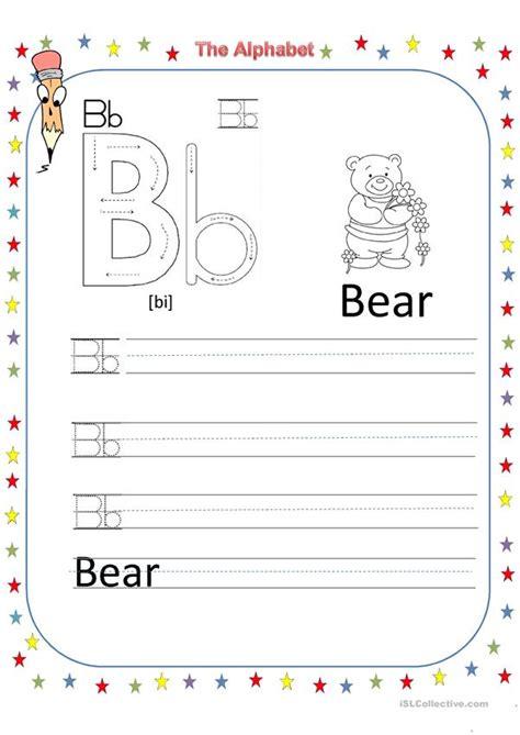 alphabet letter  worksheet  esl printable