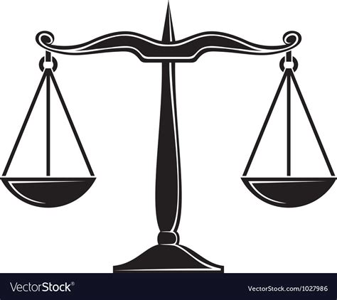Image Of A Scale Scales Of Justice Symbol Royalty Free Vector Image