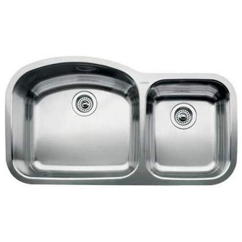 7 deep kitchen sink blanco 440242 wave stainless steel undermount double bowl