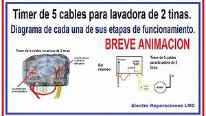 Timer De 5 Cables Para Lavadora De 2 Tinas Diagrama De