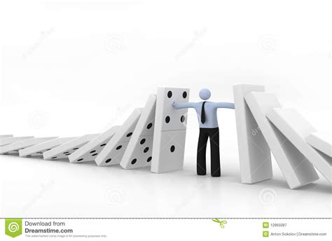 domino effect royalty  stock photography image