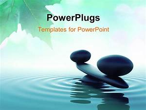 Powerpoint template balance stone in a zen water with for Presentation zen powerpoint templates