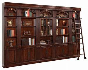 parker house wellington glass door library wall unit With build traditional bookcases wall units