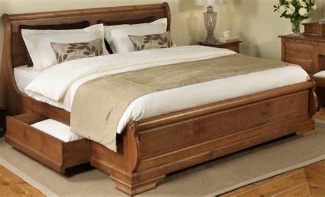 le de chevet pas chere lit bois massif avec rangement mzaol