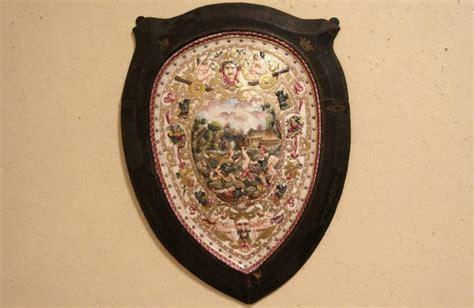 sold capodimonte royal naples  porcelain shield