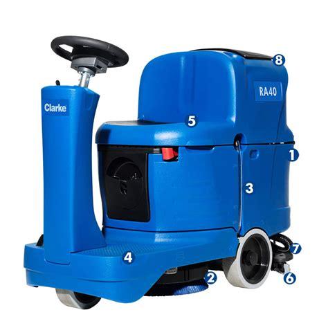 clarke floor scrubber batteries clarke ra40 micro rider battery operated auto scrubber