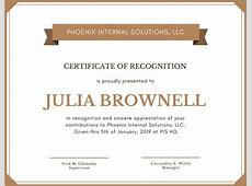 Customize 204+ Recognition Certificate templates online