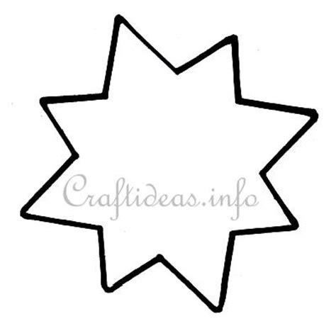 christmas craft  pointed star template
