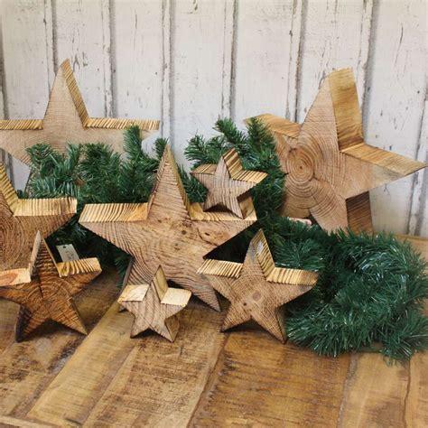 Holz Stern Weihnachtsstern Geflammt Shabby Landhaus