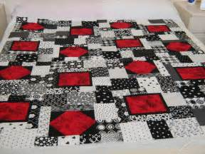 Black White Red Quilt Patterns